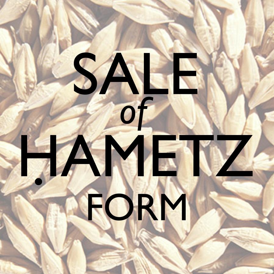 sale of chametz form image